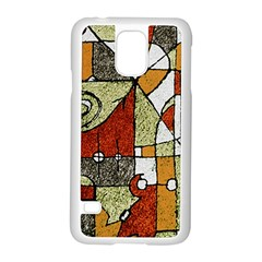 Multicolored Abstract Tribal Print Samsung Galaxy S5 Case (white) by dflcprints
