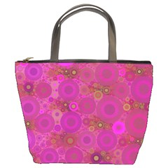Pinka Dots  Bucket Handbag by OCDesignss