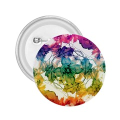 Multicolored Floral Swirls Decorative Design 2 25  Button by dflcprints