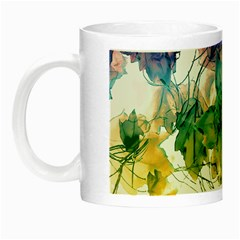 Multicolored Floral Swirls Decorative Design Glow In The Dark Mug by dflcprints