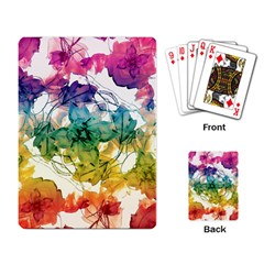 Multicolored Floral Swirls Decorative Design Playing Cards Single Design by dflcprints