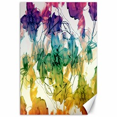 Multicolored Floral Swirls Decorative Design Canvas 12  X 18  (unframed) by dflcprints