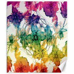 Multicolored Floral Swirls Decorative Design Canvas 20  X 24  (unframed) by dflcprints