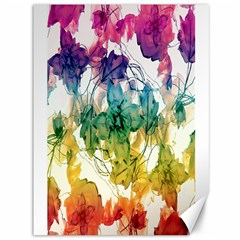 Multicolored Floral Swirls Decorative Design Canvas 36  X 48  (unframed) by dflcprints