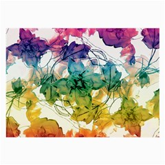 Multicolored Floral Swirls Decorative Design Glasses Cloth (large, Two Sided) by dflcprints
