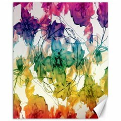 Multicolored Floral Swirls Decorative Design Canvas 11  x 14  (Unframed) by dflcprints