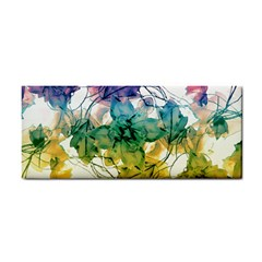 Multicolored Floral Swirls Decorative Design Hand Towel by dflcprints