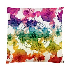 Multicolored Floral Swirls Decorative Design Cushion Case (two Sided)  by dflcprints