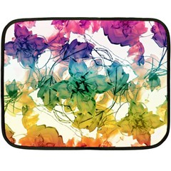 Multicolored Floral Swirls Decorative Design Mini Fleece Blanket (two Sided) by dflcprints