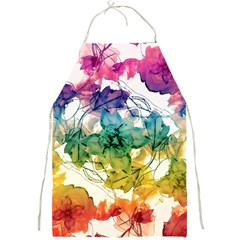 Multicolored Floral Swirls Decorative Design Apron by dflcprints
