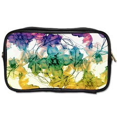 Multicolored Floral Swirls Decorative Design Travel Toiletry Bag (one Side) by dflcprints