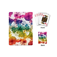Multicolored Floral Swirls Decorative Design Playing Cards (mini) by dflcprints