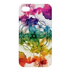 Multicolored Floral Swirls Decorative Design Apple Iphone 4/4s Hardshell Case by dflcprints