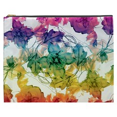 Multicolored Floral Swirls Decorative Design Cosmetic Bag (xxxl) by dflcprints