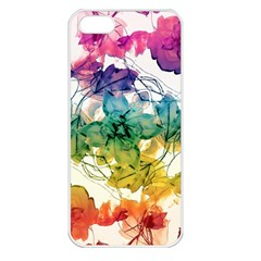 Multicolored Floral Swirls Decorative Design Apple Iphone 5 Seamless Case (white) by dflcprints