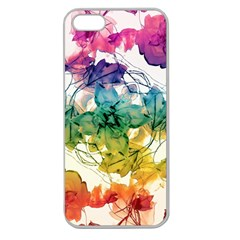 Multicolored Floral Swirls Decorative Design Apple Seamless Iphone 5 Case (clear) by dflcprints