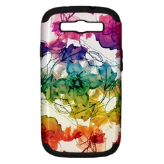 Multicolored Floral Swirls Decorative Design Samsung Galaxy S Iii Hardshell Case (pc+silicone) by dflcprints