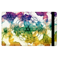 Multicolored Floral Swirls Decorative Design Apple Ipad 2 Flip Case by dflcprints