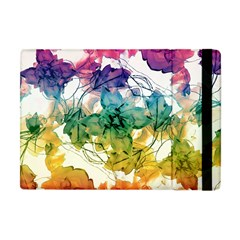 Multicolored Floral Swirls Decorative Design Apple Ipad Mini Flip Case by dflcprints