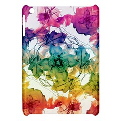 Multicolored Floral Swirls Decorative Design Apple Ipad Mini Hardshell Case by dflcprints