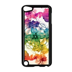 Multicolored Floral Swirls Decorative Design Apple Ipod Touch 5 Case (black) by dflcprints