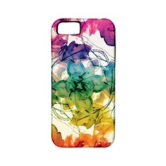 Multicolored Floral Swirls Decorative Design Apple Iphone 5 Classic Hardshell Case (pc+silicone) by dflcprints