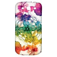 Multicolored Floral Swirls Decorative Design Samsung Galaxy S3 S Iii Classic Hardshell Back Case by dflcprints