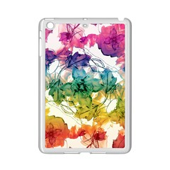 Multicolored Floral Swirls Decorative Design Apple Ipad Mini 2 Case (white) by dflcprints