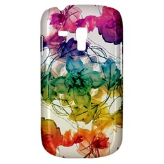 Multicolored Floral Swirls Decorative Design Samsung Galaxy S3 Mini I8190 Hardshell Case by dflcprints