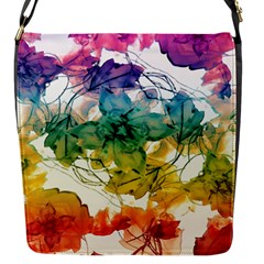 Multicolored Floral Swirls Decorative Design Flap Closure Messenger Bag (small) by dflcprints