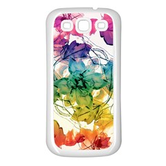 Multicolored Floral Swirls Decorative Design Samsung Galaxy S3 Back Case (white) by dflcprints
