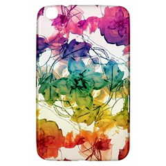 Multicolored Floral Swirls Decorative Design Samsung Galaxy Tab 3 (8 ) T3100 Hardshell Case  by dflcprints