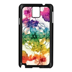 Multicolored Floral Swirls Decorative Design Samsung Galaxy Note 3 N9005 Case (black)
