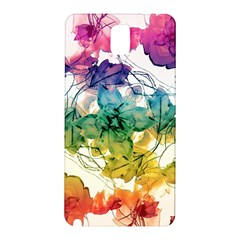 Multicolored Floral Swirls Decorative Design Samsung Galaxy Note 3 N9005 Hardshell Back Case by dflcprints