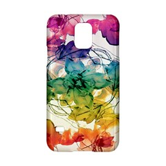 Multicolored Floral Swirls Decorative Design Samsung Galaxy S5 Hardshell Case  by dflcprints