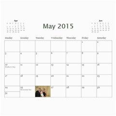 Calendar By Christina Cole   Wall Calendar 11  X 8 5  (12 Months)   Zbrm4spdopcu   Www Artscow Com May 2015