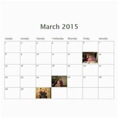 Calendar By Christina Cole   Wall Calendar 11  X 8 5  (12 Months)   Zbrm4spdopcu   Www Artscow Com Mar 2015
