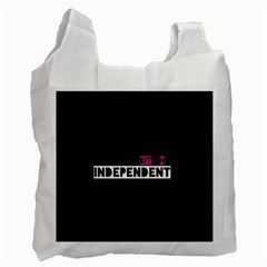 Independent Bit H White Reusable Bag (one Side) by OCDesignss