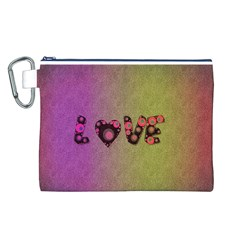 Love Abstract  Canvas Cosmetic Bag (large) by OCDesignss