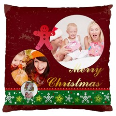 Xmas By Xmas   Large Flano Cushion Case (two Sides)   E4p2n2a2p423   Www Artscow Com Front