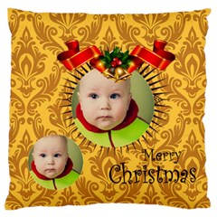 Xmas By Xmas   Large Flano Cushion Case (two Sides)   76o34o4uvcdx   Www Artscow Com Front