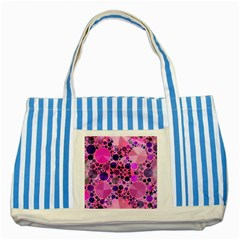 Pink Bling  Blue Striped Tote Bag by OCDesignss