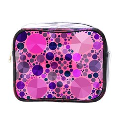 Pink Bling  Mini Travel Toiletry Bag (one Side) by OCDesignss