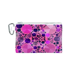 Pink Bling  Canvas Cosmetic Bag (small) by OCDesignss