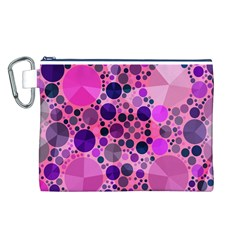 Pink Bling  Canvas Cosmetic Bag (large) by OCDesignss