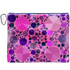 Pink Bling  Canvas Cosmetic Bag (xxxl) by OCDesignss