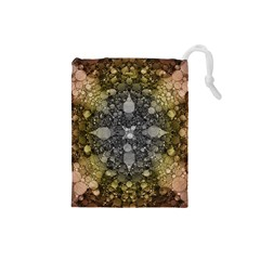 Abstract Earthtone  Drawstring Pouch (small) by OCDesignss