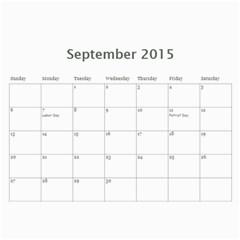 K s Dad s Calendar By Bonnie Benham   Wall Calendar 11  X 8 5  (12 Months)   Y40bll6i8af5   Www Artscow Com Sep 2015