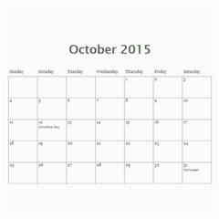 K s Dad s Calendar By Bonnie Benham   Wall Calendar 11  X 8 5  (12 Months)   Y40bll6i8af5   Www Artscow Com Oct 2015