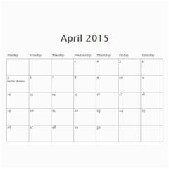 K s Dad s Calendar By Bonnie Benham   Wall Calendar 11  X 8 5  (12 Months)   Y40bll6i8af5   Www Artscow Com Apr 2015